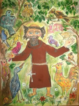 St Francis sermon to the birds by Uproariousorake
