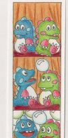 Bubble Bobble Bookmark by the-punk-hippie