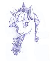 Twilight Bust - sketch by Longinius-II