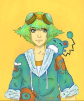 Pokemon Trainer - Marill by automnal-glimpse