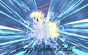 Rainbow falls wallpaper by Timexturner