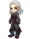 The Witcher: Geralt chibi by ryumo