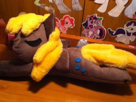 sleeping derpy hooves plush .:FOR SALE:. by Chibi-Katie