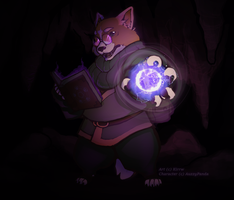 Com:AuzzyPanda Isaac the Corgyn Mage by Kirrw