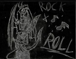 Rock N' Roll Dragon-Guitar by godoflight