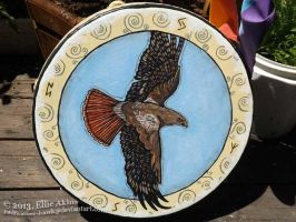 Hawk Drum by RedFeatherFalconHawk