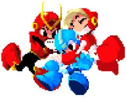 megaman crashman and quickman by Tuyoki
