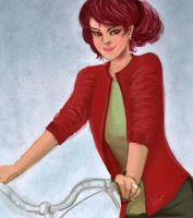 Lady with her Bicycle by arijitgupta