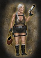 Lara Croft as an old Lady by MOE-N