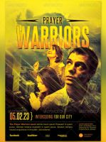 Prayer Warriors Church Flyer and CD Template by loswl
