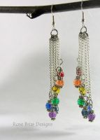 Chakra Earrings Chandelier Earrings by My-Timeout