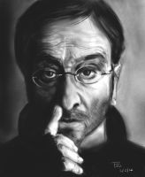 Lucio Dalla, portrait exercise from a photo by Mordred-87