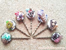 Sweets Hairclips by mashlimaro
