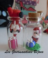 FIMO MINI CHRISTMAS BOTTLES by GourmandisesBijoux