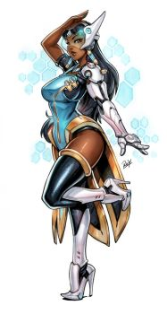 Symmetra Copic markers and Digital coloring by reiq