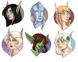 [WoW] Stream Freebie Headshots 2 by SirMeo
