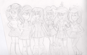 Equestria Girls Sketch by The-Bryce-Is-Right