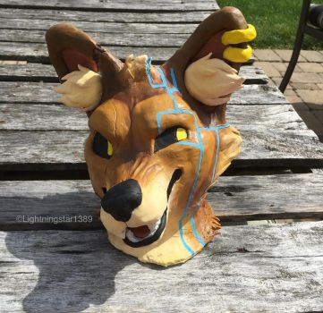Dhole Clay Bust by lightningstar1389