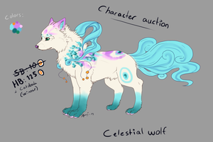 .:Celestial wolf auction:.SOLD:. by CopiaTheWolf