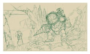 fanart bioshock by crispawn