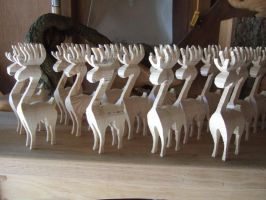 An army of 'unfinished' deer by arbortechuser