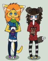 Chibis. by Mustang-Heart