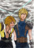 Dissidia - Cloud and Tidus by AurelGweillys