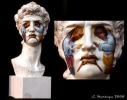 Bust of David Masquerading by the-surreal-arts