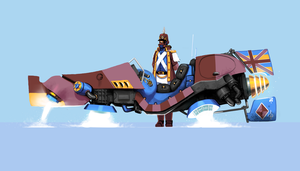 Imperial Great Britonian hover bike trooper by Fawflump
