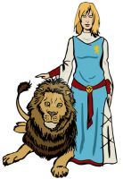Lady and Lion by gg-al