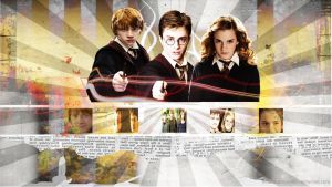 HP-Golden Trio Wallpaper by nolimitations9