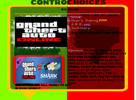 ControChoices: GTA Online by TheGreatServer