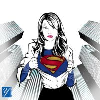 Emma-stone as a Supergirl by yasserian