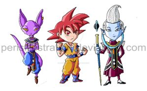 Dragon Ball Chibis: Battle of Gods by PerisIllustration