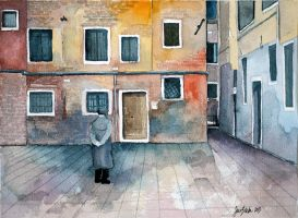 Old man, city-scape - 15th day by jane-beata