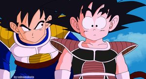 vegeta and goku by salvamakoto