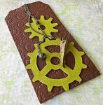 Brown And Green Gear Bookmark by random-wish