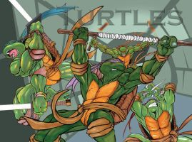 Teenage Mutant Ninja turtles by 5000WATTS