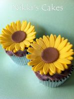Sunflower Cupcakes by Corpse-Queen