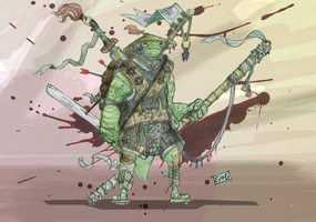 Samurai Turtle by greendragongryphon