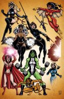 Marvel Women by AndrewJHarmon