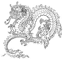 Dragon tattoo sketch by smarelda