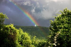 The Rainbow and the Tower by Geak-of-Nature