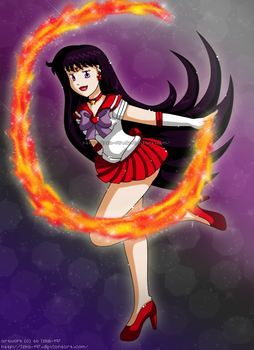 [Commission61] Sailor Mars Burning Mandala by izka-197