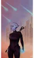 Goodbye, Thessia - Asari by kanu22