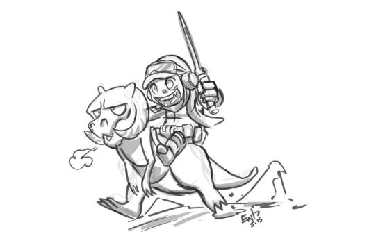 Hoth Luke chibi - Sketch commission by EryckWebbGraphics