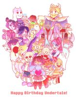 Heart - Undertale 1st Anniversary! by SylveonChan