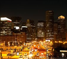 Boston At Night by PhotographybyVictor