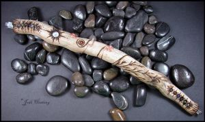 Driftwood and Gemstone Wand - Santiva by andromeda