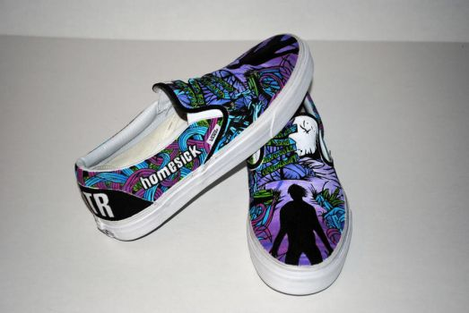 A Day To Remember Custom Vans by cxcdrummer